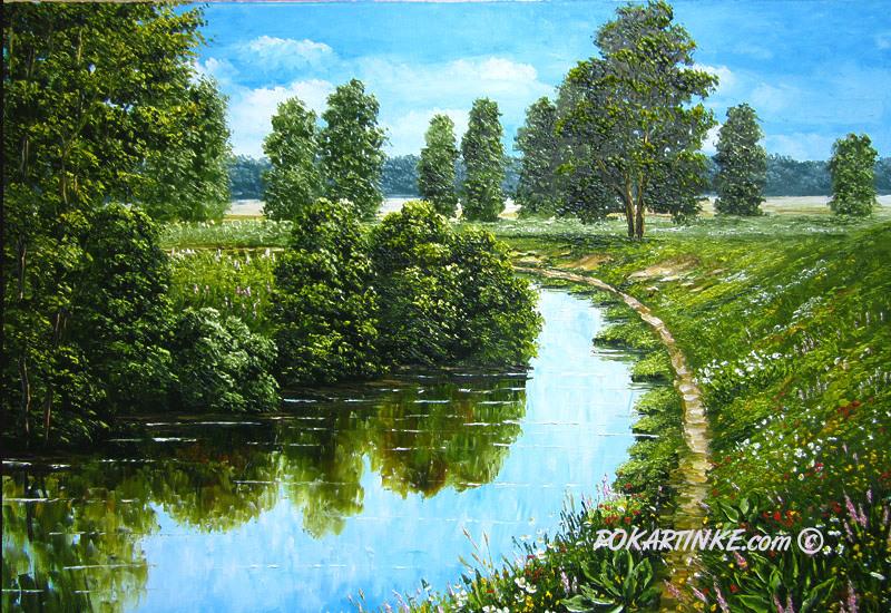 Изгиб реки - картинная галерея PoKartinke.com