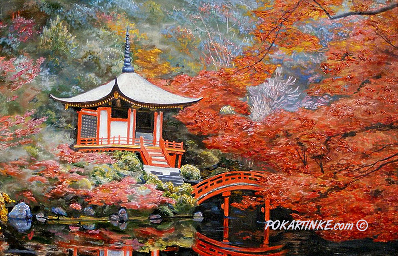 Японский пейзаж - картинная галерея PoKartinke.com