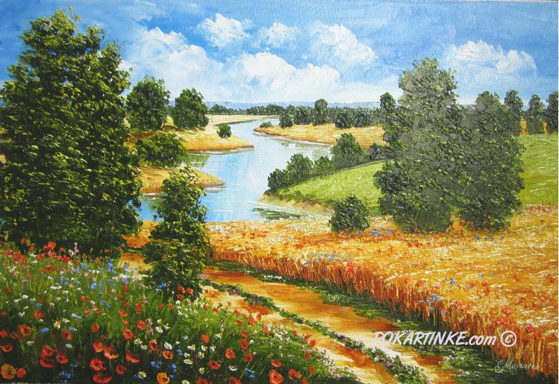 К реке - картинная галерея PoKartinke.com