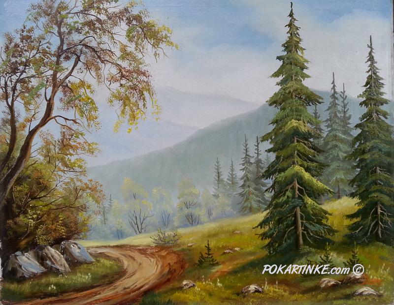 Карпатская дорога - картинная галерея PoKartinke.com