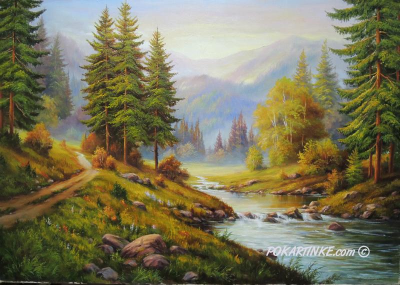 Карпатська річка - картинная галерея PoKartinke.com
