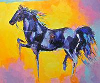 Конь в синих оттенках
