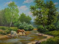 Кони у реки