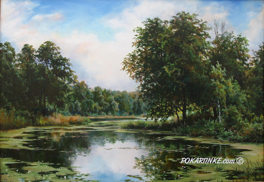 Кувшинки на озере - картинная галерея PoKartinke.com