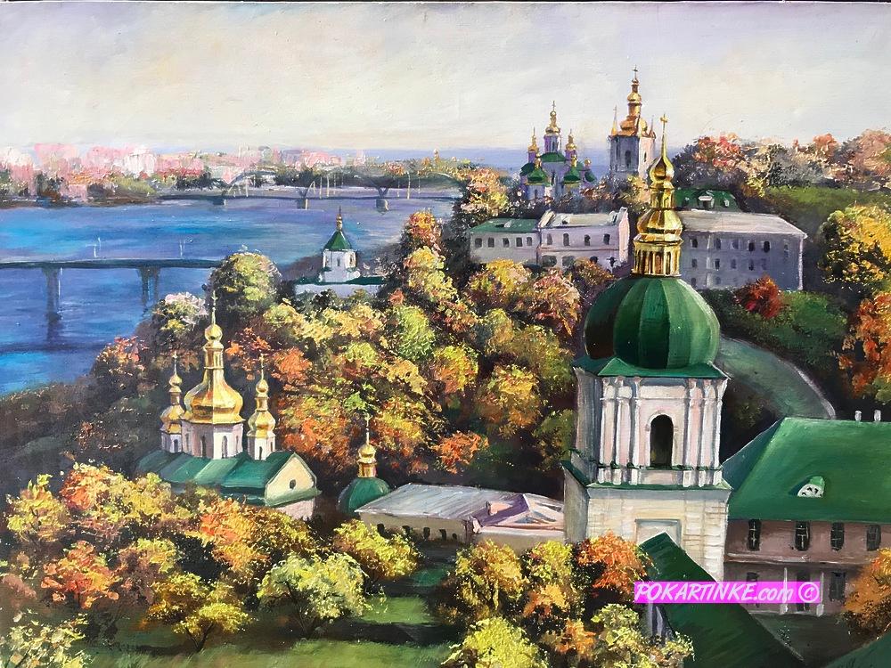 Осень в Киево-Печерской Лавре - картинная галерея PoKartinke.com