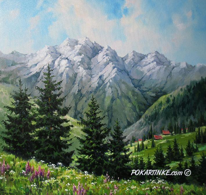 Лето в горах - картинная галерея PoKartinke.com