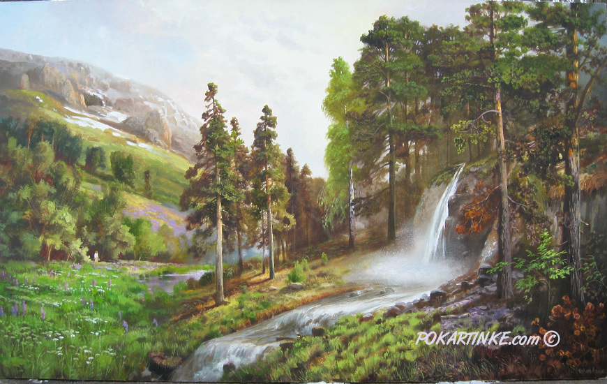 Лес в горах - картинная галерея PoKartinke.com
