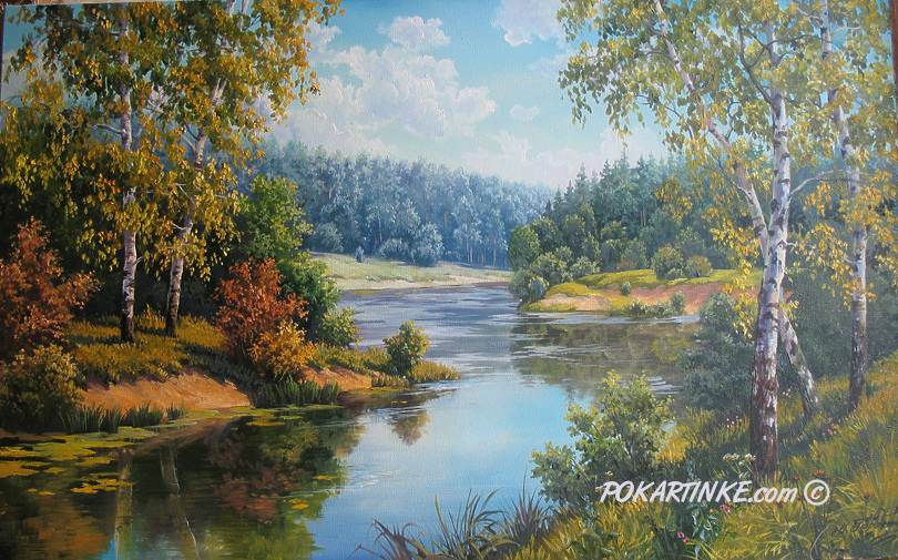 Лесная река - картинная галерея PoKartinke.com