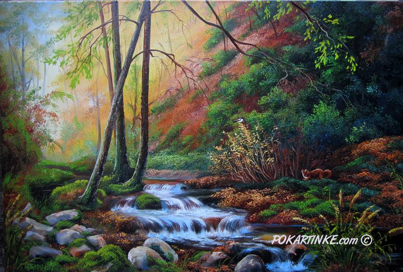 Лесной поток - картинная галерея PoKartinke.com