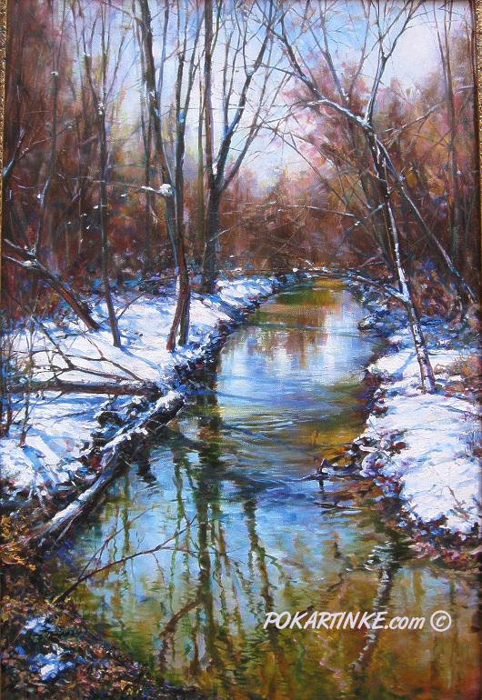 Ручей лесной - картинная галерея PoKartinke.com