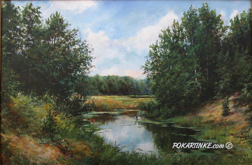 Лесной ручей - картинная галерея PoKartinke.com