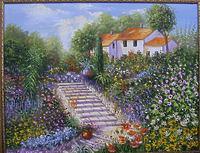 Лестница в цветах