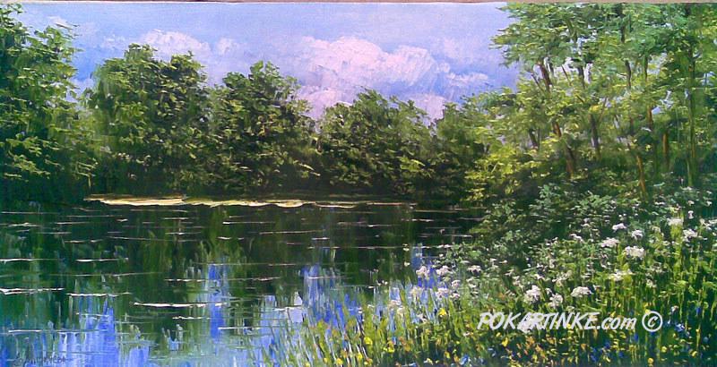 На летнем озере - картинная галерея PoKartinke.com