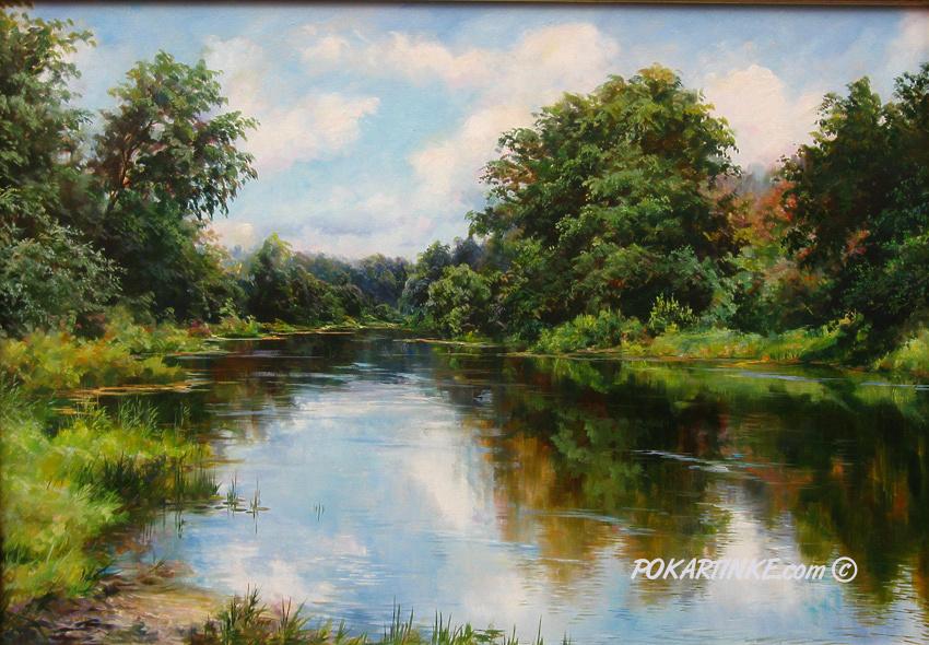 Летний день на реке - картинная галерея PoKartinke.com