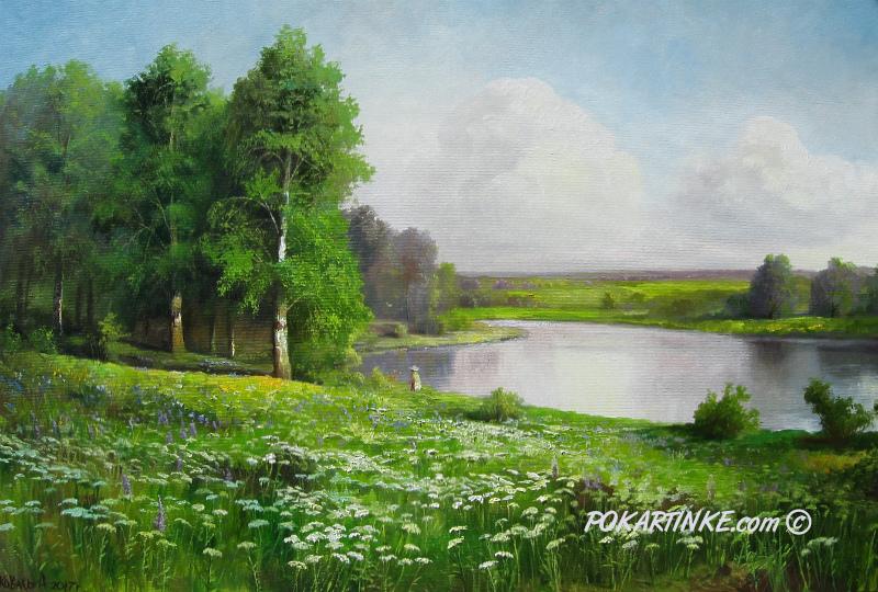 Летний луг - картинная галерея PoKartinke.com