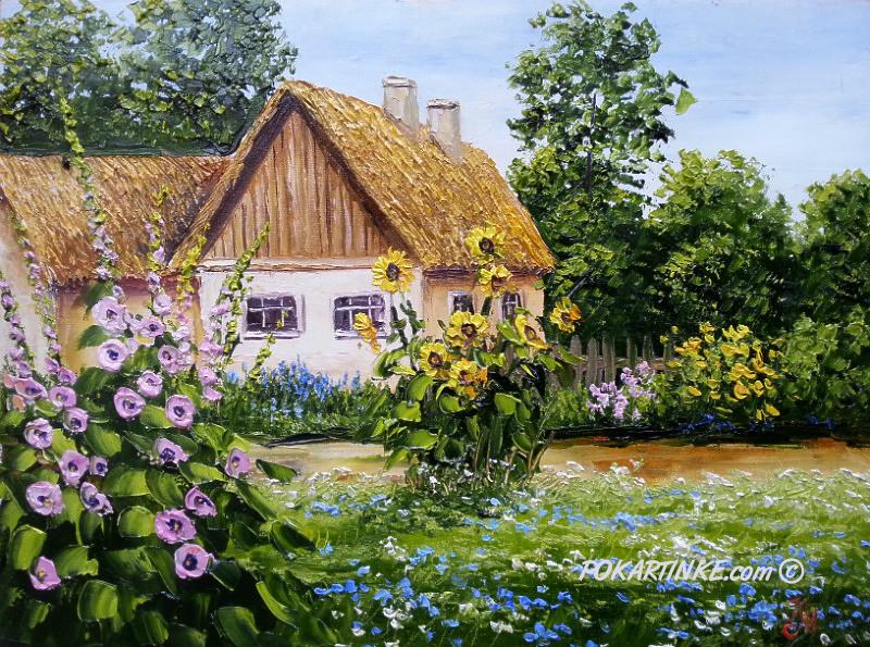 Лето в селе - картинная галерея PoKartinke.com