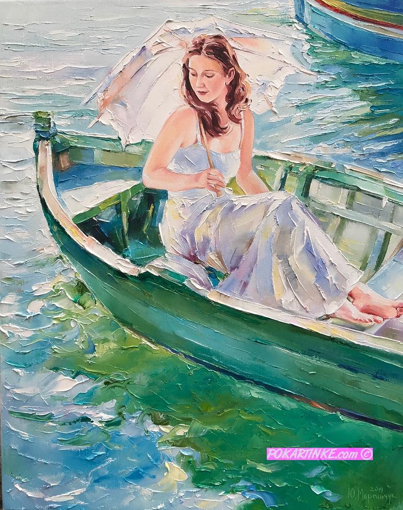 В летний день на озере - картинная галерея PoKartinke.com