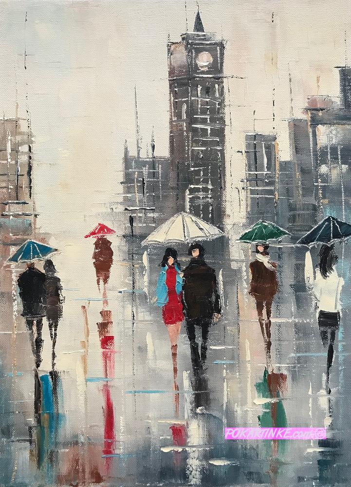 Дождливый Лондон - картинная галерея PoKartinke.com