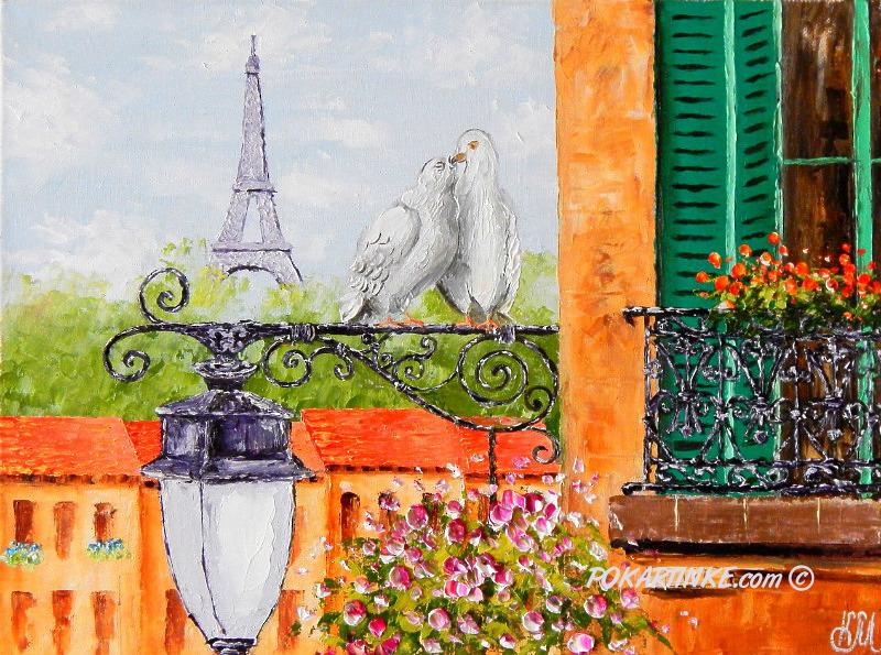 Любовь в воздухе - картинная галерея PoKartinke.com