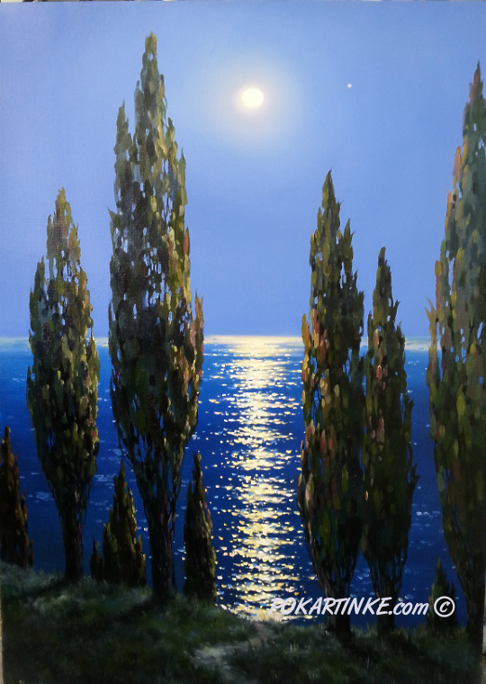 Лунная дорожка - картинная галерея PoKartinke.com