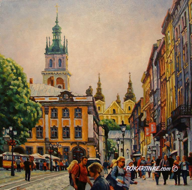 Львов. Площадь Рынок - картинная галерея PoKartinke.com