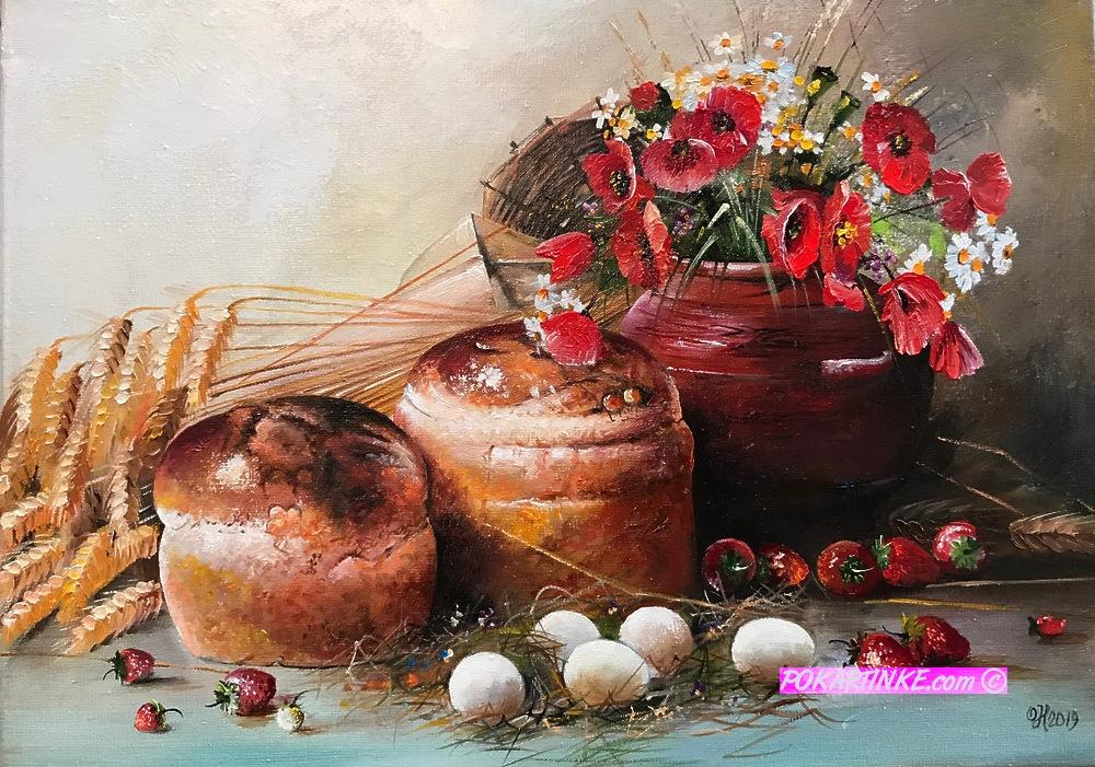 Пасхальный натюрморт - картинная галерея PoKartinke.com