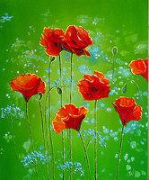 Цветы на зеленом