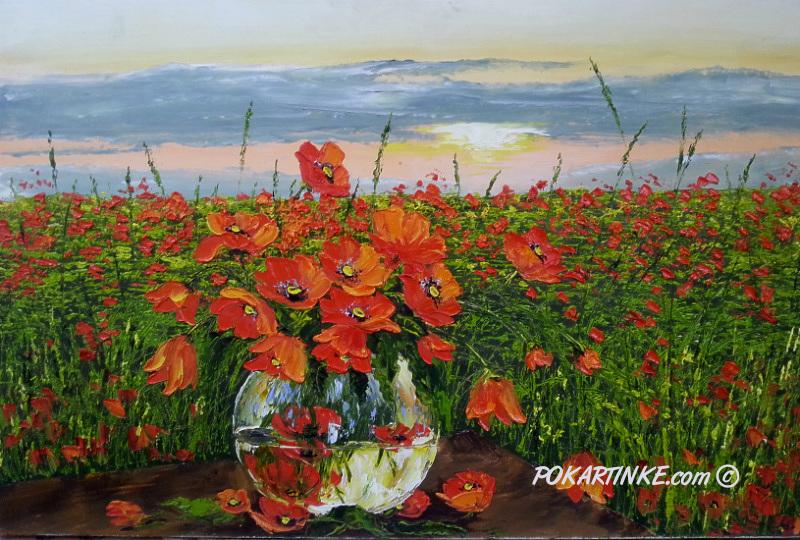 Маки на закате - картинная галерея PoKartinke.com