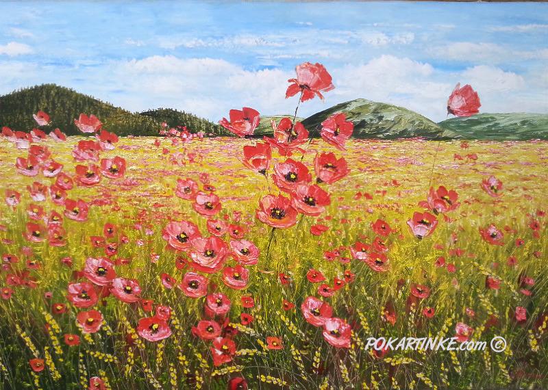 Маковое поле - картинная галерея PoKartinke.com