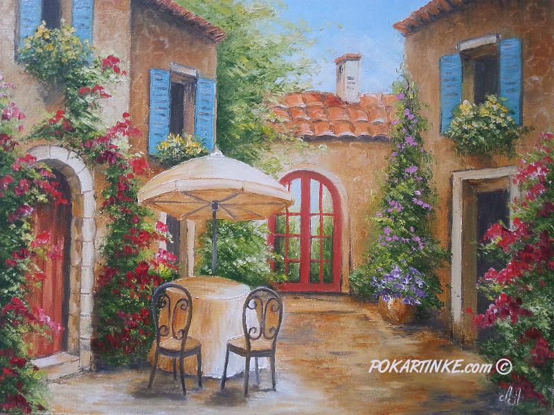 Маленький уютный двор - картинная галерея PoKartinke.com