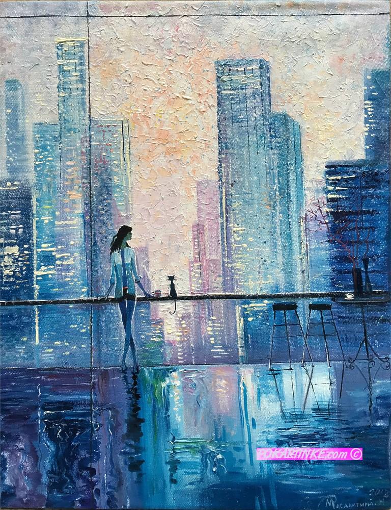 Утро большого города - картинная галерея PoKartinke.com