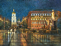 Вечерняя Михайловская площадь