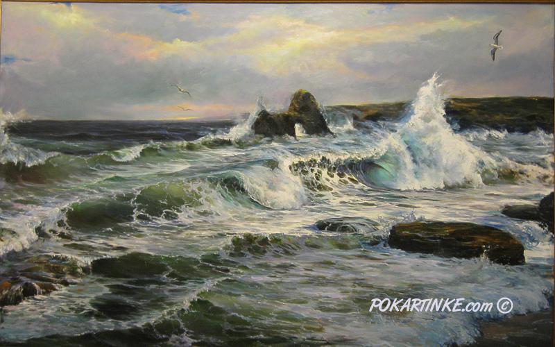 Море штормит - картинная галерея PoKartinke.com