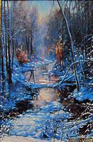 Морозным утром у ручья