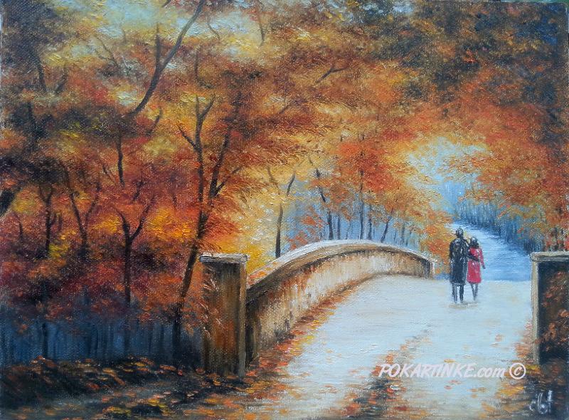 Мост осени - картинная галерея PoKartinke.com
