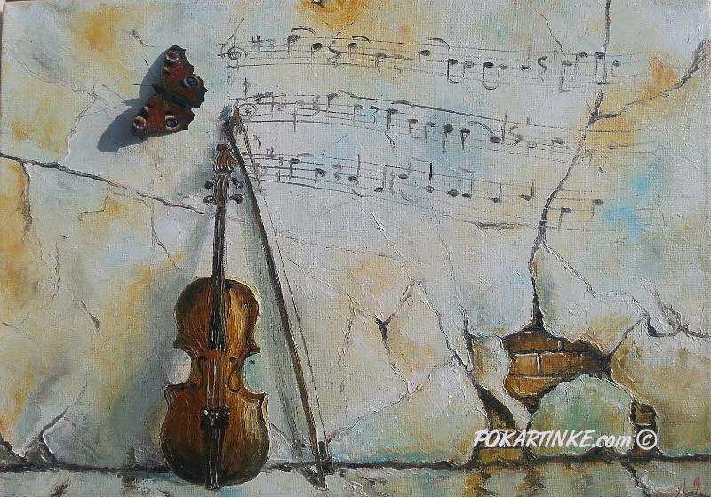 Музыка скрипки - картинная галерея PoKartinke.com