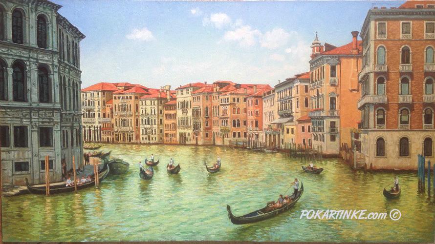 На канале Венеции - картинная галерея PoKartinke.com