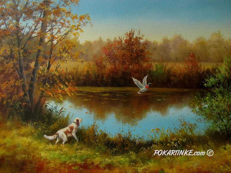 На охоте - картинная галерея PoKartinke.com
