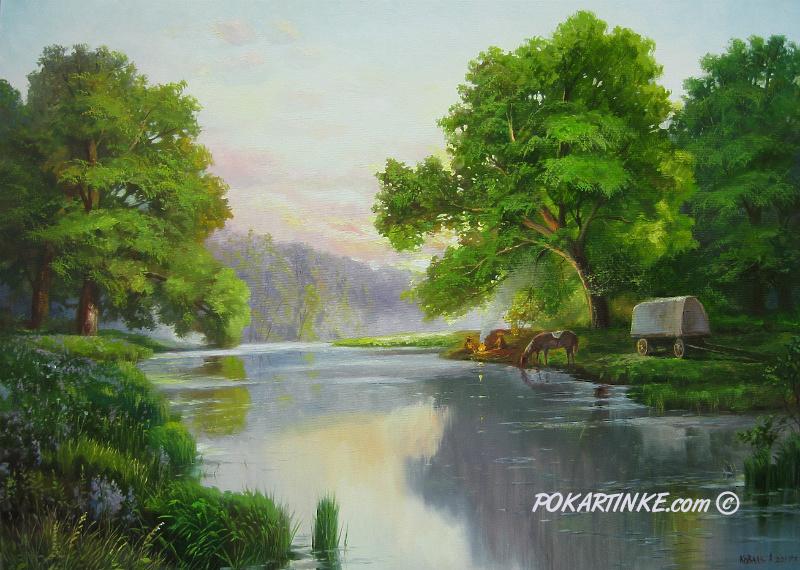 На отдыхе - картинная галерея PoKartinke.com