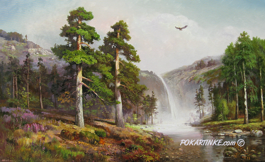 Над водопадом - картинная галерея PoKartinke.com