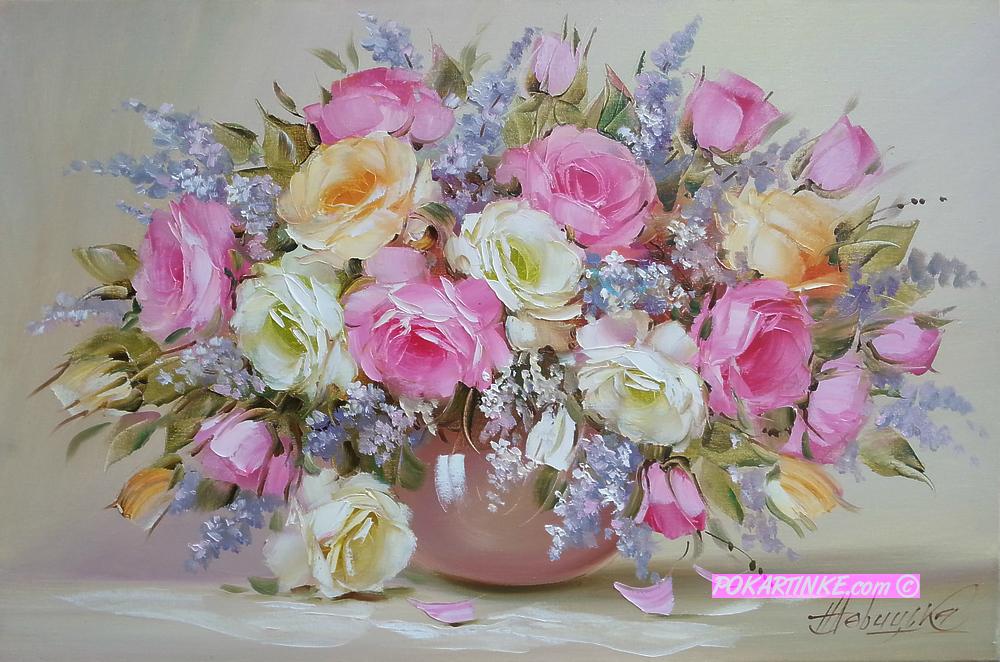 Нежные розы - картинная галерея PoKartinke.com