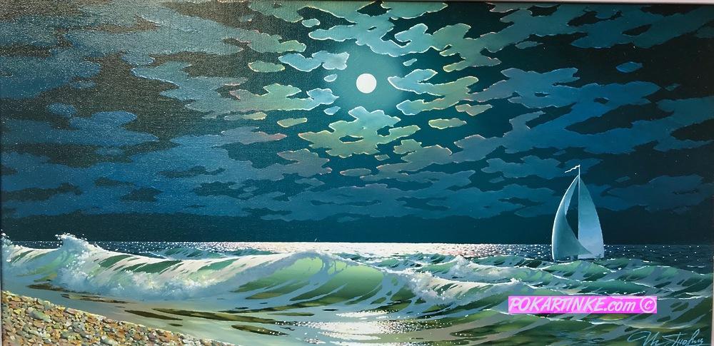 Ночное море - картинная галерея PoKartinke.com