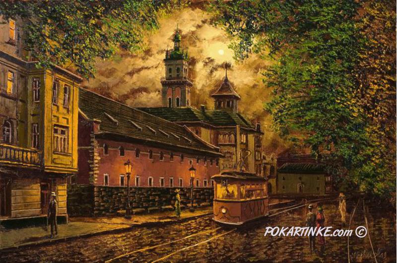 Ночной трамвай - картинная галерея PoKartinke.com