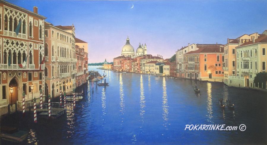 Венецианский канал вечером - картинная галерея PoKartinke.com