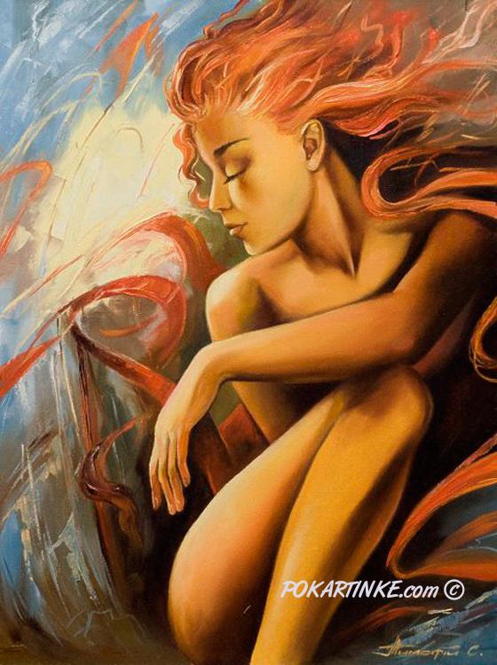 Огненная красотка - картинная галерея PoKartinke.com