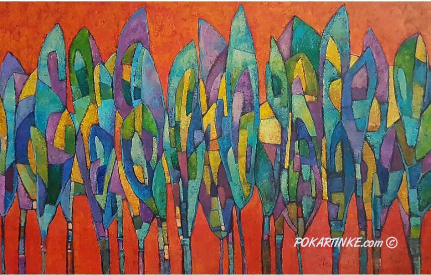 Оранжевое небо - картинная галерея PoKartinke.com