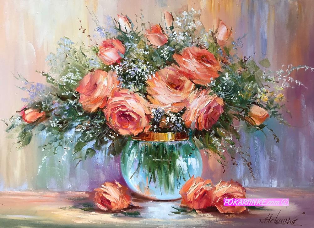 Персиковые росы - картинная галерея PoKartinke.com