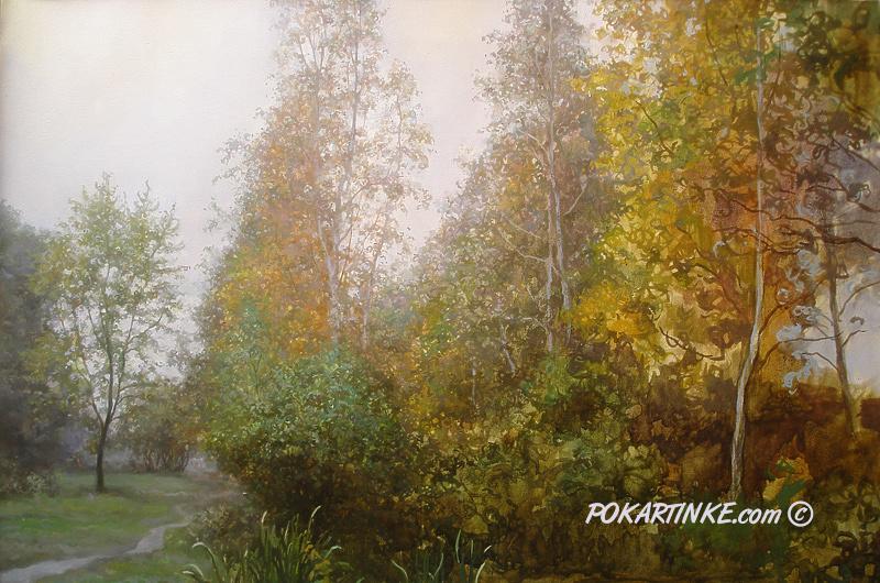 Осень. Березы - картинная галерея PoKartinke.com