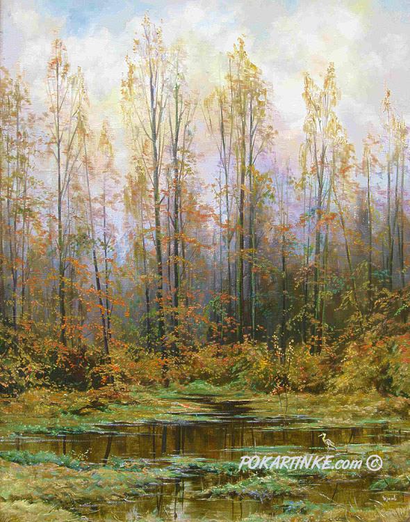 Осень на болоте - картинная галерея PoKartinke.com