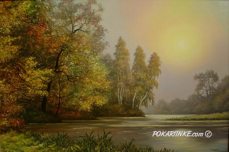 Осеннее солнце - картинная галерея PoKartinke.com
